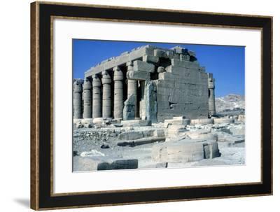 The Ramesseum, Temple of Rameses Ii, Luxor, Egypt-CM Dixon-Framed Photographic Print