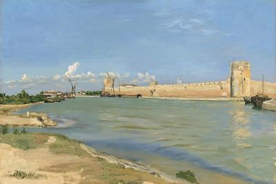 The Ramparts at Aigues-Mortes, 1867-Jean Frederic Bazille-Giclee Print