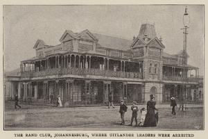 The Rand Club, Johannesburg, Where Uitlander Leaders Were Arrested