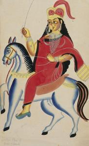 The Rani of Jhansi on Horseback, c.1890