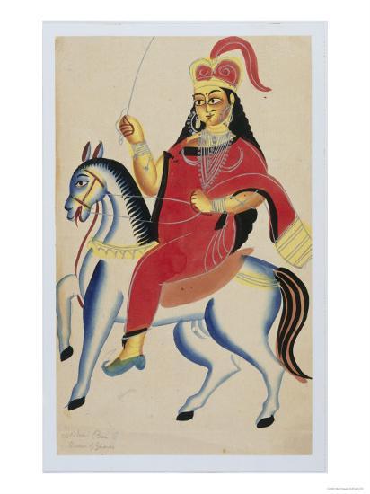 The Rani of Jhansi on Horseback, c.1890--Giclee Print