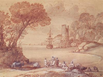 The Rape of Europa, 1655 (Pen, Ink and Wash)-Claude Lorraine-Giclee Print