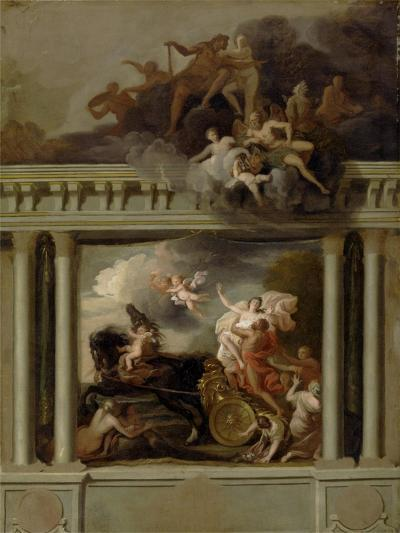 The Rape of Proserpine, Design for the Staircase of Devonshire House, London, C.1704-Louis Laguerre-Giclee Print