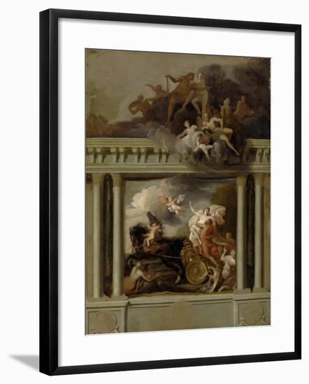 The Rape of Proserpine, Design for the Staircase of Devonshire House, London, C.1704-Louis Laguerre-Framed Giclee Print