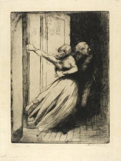 The Rape, Plate Eight from Woman, C.1886-Paul Albert Besnard-Giclee Print