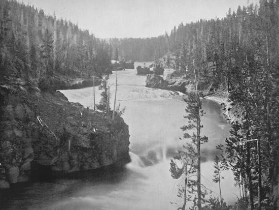 'The Rapids of the Yellowstone', 19th century-Unknown-Photographic Print