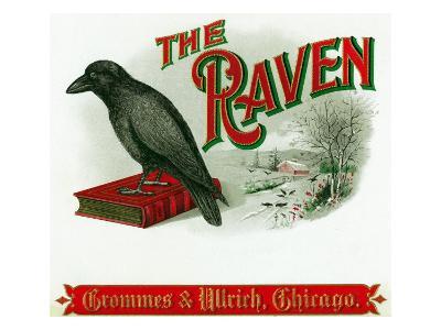 The Raven Brand Cigar Box Label-Lantern Press-Art Print