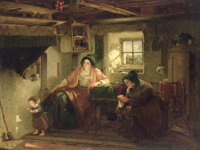 The Ray of Sunlight, 1857-Thomas Faed-Giclee Print