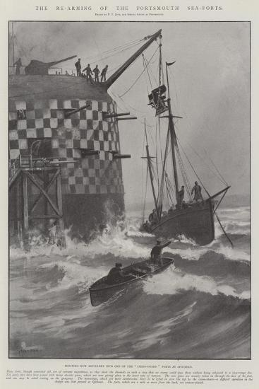 The Re-Arming of the Portsmouth Sea-Forts-Fred T. Jane-Giclee Print