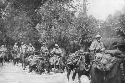 The Re-Supply of a Machine Gun Unit by Horseback, Aisne, France, 2 September 1918--Giclee Print
