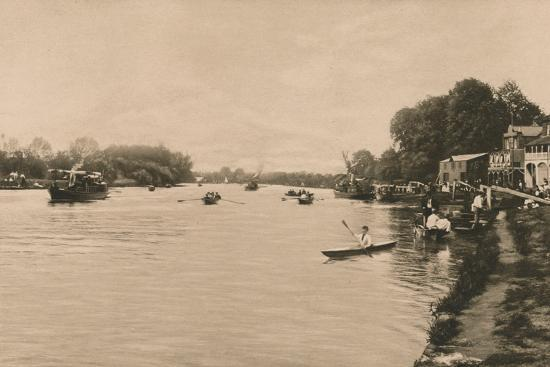 'The Reach, Walton-On-Thames', 1902-Unknown-Photographic Print