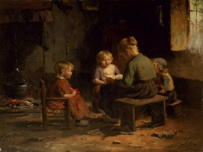 The Reading Lesson-Evert Pieters-Giclee Print