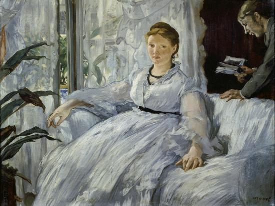 The Reading, Mme, Manet and Her Son, Léon Koella-Leenhoff, 1869-Edouard Manet-Giclee Print