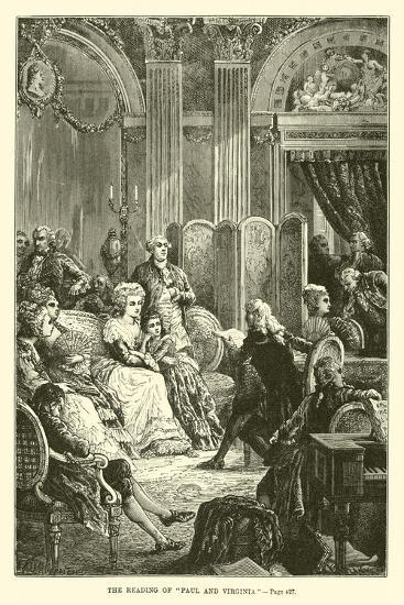 """The Reading of """"Paul and Virginia""""--Giclee Print"""