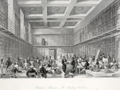 The Reading Room and Library at the British Museum-Thomas Hosmer Shepherd-Giclee Print