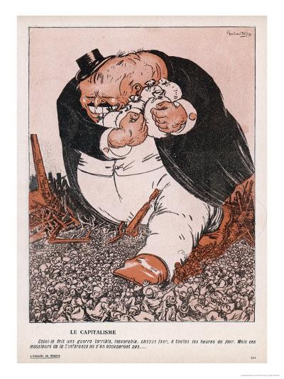 The Real Social Enemy is the Capitalist Who Tramples the People and Grabs the Gold-Galantara-Giclee Print