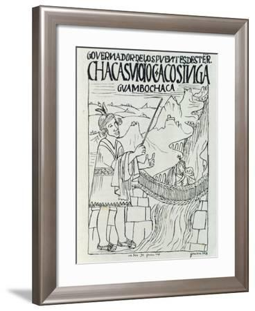 The Real Streets of the Incas with Suspended Bridges over the Rivers in Peru--Framed Giclee Print