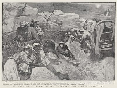 The Real Victims of the War, Refugees Seeking Shelter from Shells on the Mooi River-William Small-Giclee Print
