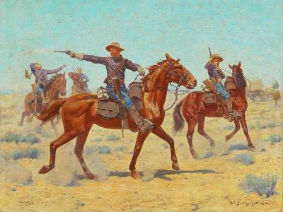 The Rear Guard, 1907-Charles Schreyvogel-Giclee Print