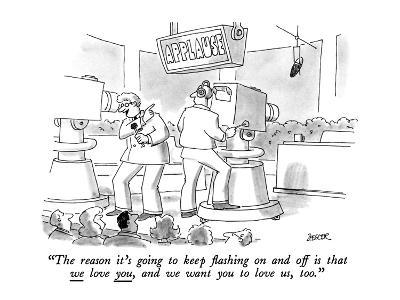 """The reason it's going to keep flashing on and off is that we love you, an?"" - New Yorker Cartoon-Jack Ziegler-Premium Giclee Print"