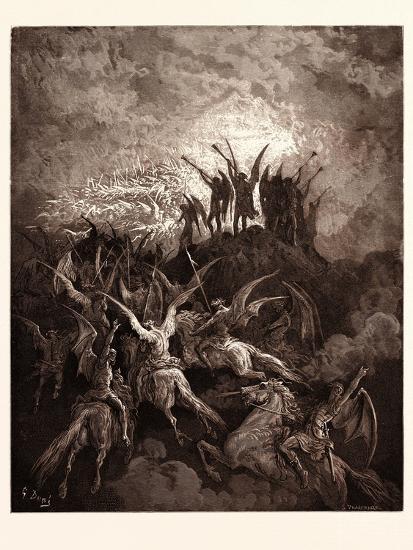 The Rebel Angels Summoned to the Conclave-Gustave Dore-Giclee Print
