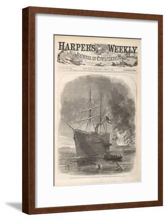 The Rebel (Confederate) Steamer 'Nashville' Running the Blocade at Beaufort, North Carolina