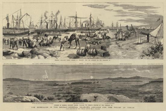 The Rebellion in the Soudan, General Graham's Advance for the Relief of Tokar-Frederic Villiers-Giclee Print