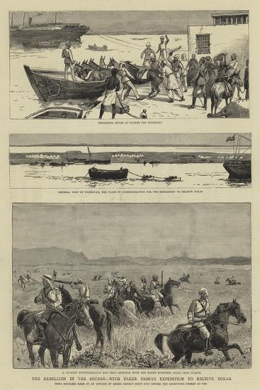 The Rebellion in the Soudan, with Baker Pasha's Expedition to Relieve Tokar--Giclee Print