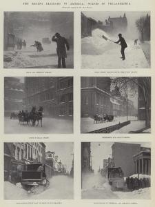 The Recent Blizzard in America, Scenes in Philadelphia