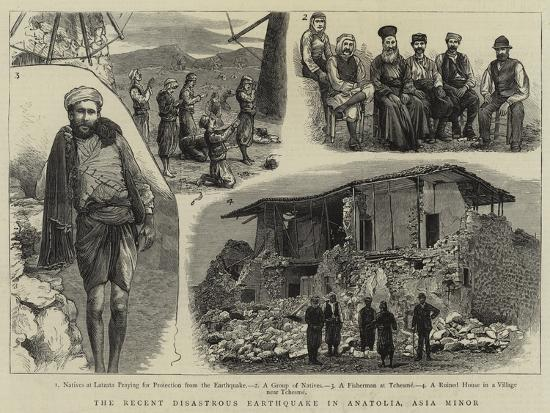 The Recent Disastrous Earthquake in Anatolia, Asia Minor--Giclee Print