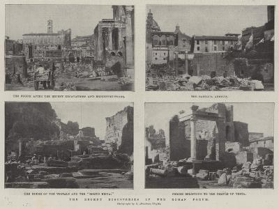 The Recent Discoveries in the Roman Forum--Giclee Print