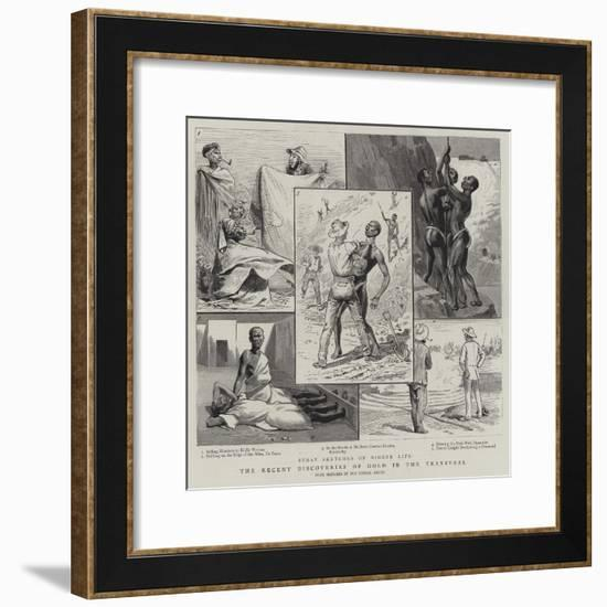 The Recent Discoveries of Gold in the Transvaal--Framed Giclee Print