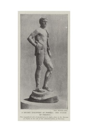 The Recent Discovery at Pompeii, the Statue of Perseus--Giclee Print