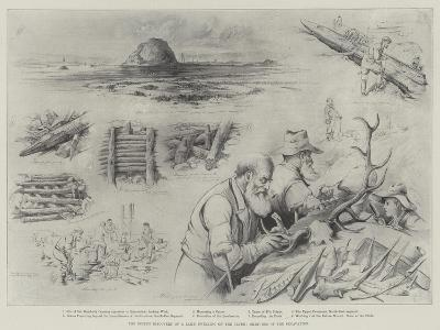 The Recent Discovery of a Lake-Dwelling on the Clyde, Sketches of the Excavation--Giclee Print