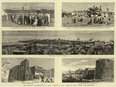 The Recent Earthquake at Scio, Views in the Town of Scio after the Disaster--Giclee Print