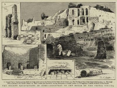 The Recent Excavations in Rome, Discovery of the House of the Vestal Virgins--Giclee Print