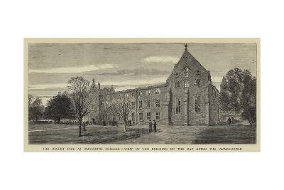 The Recent Fire at Maynooth College, View of the Building on the Day after the Catastrophe--Giclee Print