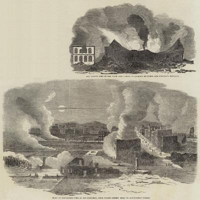 The Recent Fire at San Francisco--Giclee Print