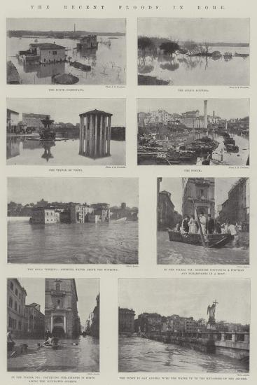 The Recent Floods in Rome--Giclee Print