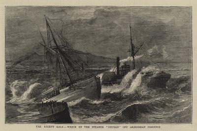 The Recent Gale, Wreck of the Steamer Chusan Off Ardrossan Harbour--Giclee Print