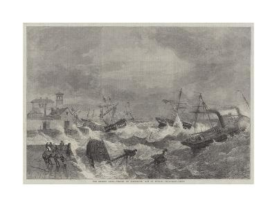 The Recent Gale, Wrecks at Kingstown, Bay of Dublin-George Henry Andrews-Giclee Print