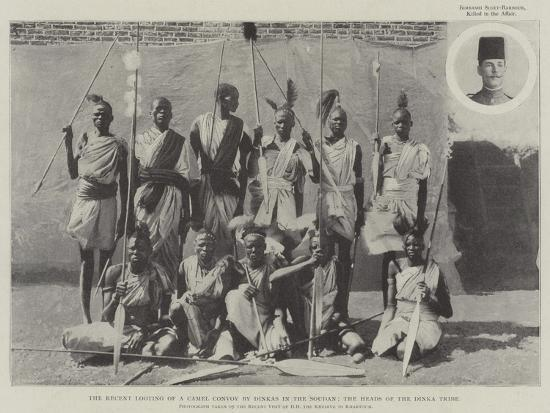 The Recent Looting of a Camel Convoy by Dinkas in the Soudan, the Heads of the Dinka Tribe--Giclee Print