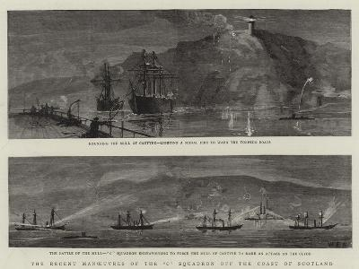 The Recent Manoeuvres of the C Squadron Off the Coast of Scotland--Giclee Print
