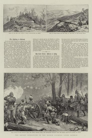The Recent Operations in the Kachin Country, Upper Burmah--Giclee Print