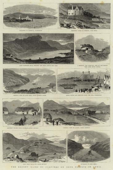 The Recent Raids by Crofters on Deer Forests in Lewis--Giclee Print