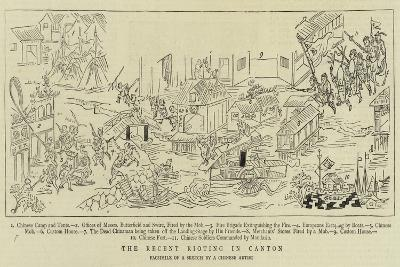 The Recent Rioting in Canton--Giclee Print