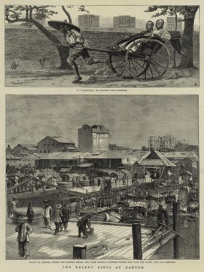 The Recent Riots at Canton--Giclee Print