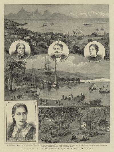 The Recent Visit of Queen Marau of Tahiti to Europe--Giclee Print