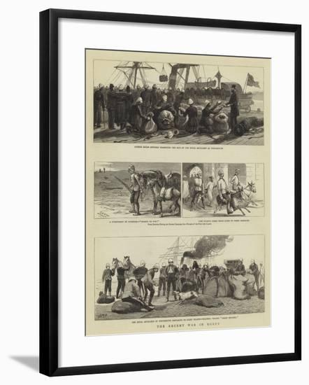 The Recent War in Egypt-Charles Joseph Staniland-Framed Giclee Print