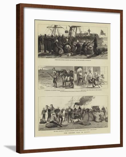 The Recent War in Egypt-Charles Joseph Staniland-Framed Giclee Print
